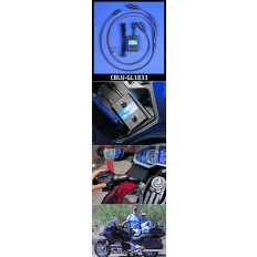 J&M Custom BluHub® Bluetooth® CORDED Helmet Headset Adapter kit for the 2018 Honda Gold Wing