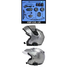J&M Elite BT-03 Series Bluetooth® Headset w/Large-Diameter High-Intensity Speakers for Flip-Up or Open-Face Style Helmet