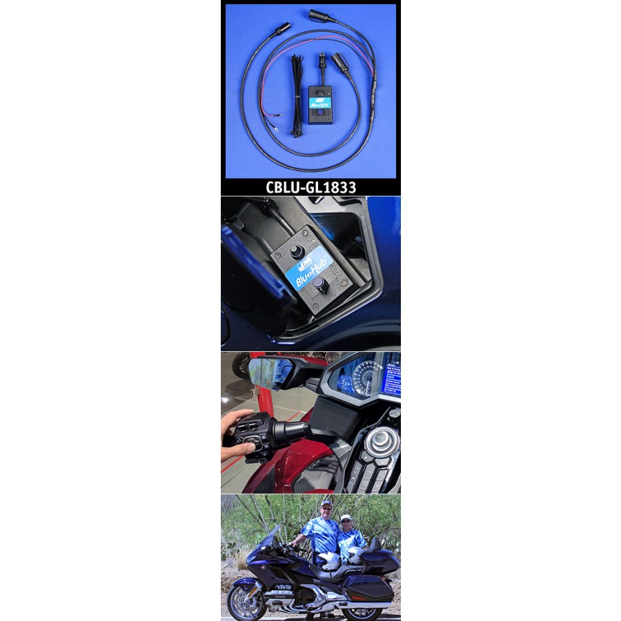 J&M Custom BluHub® Bluetooth® CORDED Helmet Headset Adapter kit for the 2018 Honda GoldWing
