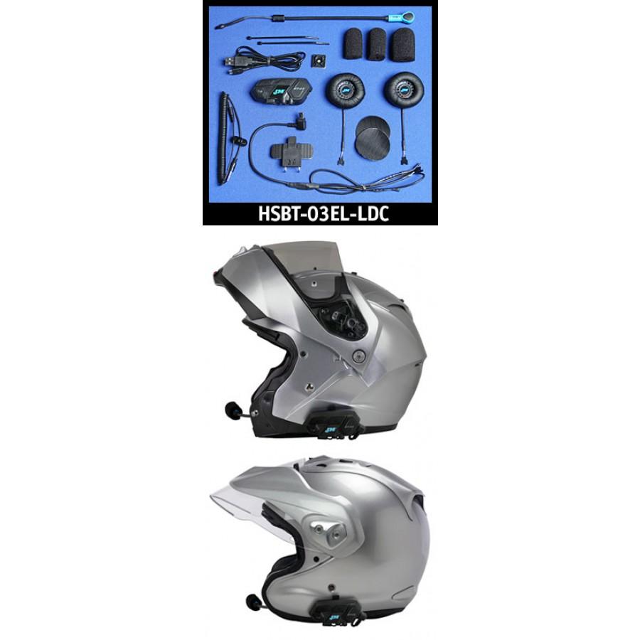 J&M Elite BT-03 Series Bluetooth® Headset w/Large-Diameter High-Intensity Speakers for Flip-Up or Open-Face Style Helmet Goldwing