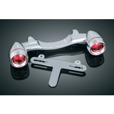 Chrome Bullet Light Rear Turn Signal Bar