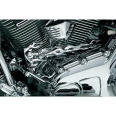"""Chromowane cięgno zmiany biegów """"Flame"""" do motocykli Harley Davidson"""