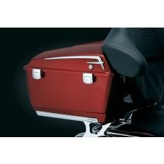 Chromowane akcenty na kufry motocyklowe