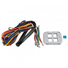 Accessory light kit with chrome panel