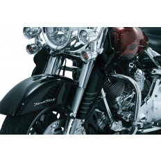 Gloss Black Fork Mounted Variable Wind Deflectors