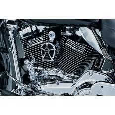 Chromowana osłona świec motocyklowych Harley Davidson