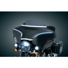 Czarny pierścień na lampę główną motocykla Harley Davidson