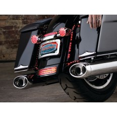 Beast Oval Mufflers with Streamliner Tips