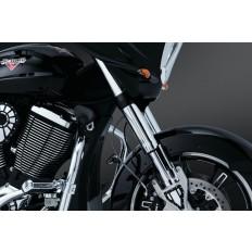 Chomowane osłony na lagi motocykla Victory