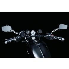 Czarne głośniki motocyklowe na 1 calową kierownicę