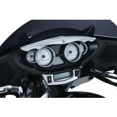 Chromowany daszek na liczniki do motocykli Victory