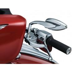 Chromowane lusterka motocyklowe Teardrop