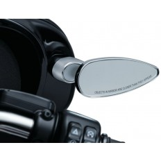 Chromowane lusterka mocowane do owiewki motocykla