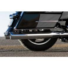 Czarne tipy do wydechów motocykla Harley Davidson