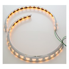 Amber LED rotor cover light rings