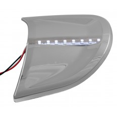 Chrome headlight contour cover trims with LEDs