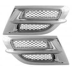 Chrome air intake grills with mesh inserts