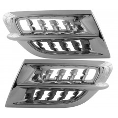 Chrome air intake grills with predatos grills