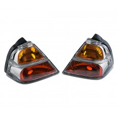 Clear saddlebag lights