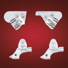 Chrome Footpeg Lowering Bracket Set